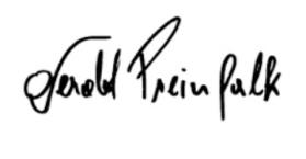 Gerald's signature